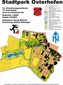 Karte Stadtpark Osterhofen